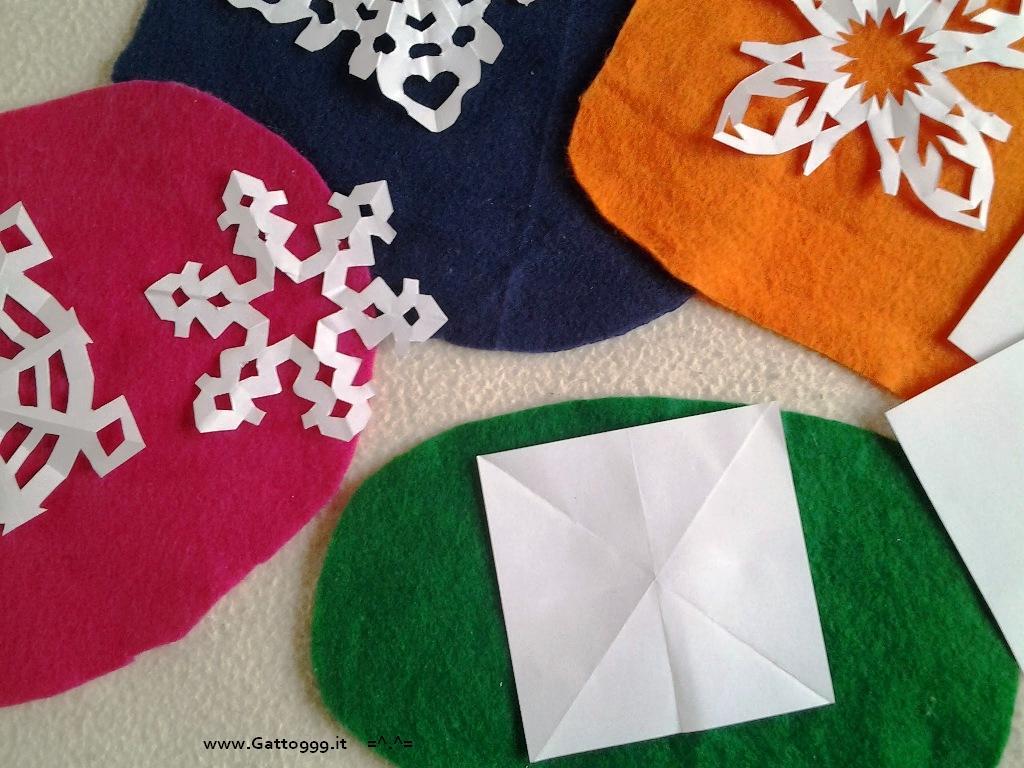 Fiocchi Di Neve Di Carta Modelli : Cat origami addobbi natale fatti con la carta fiocco di neve