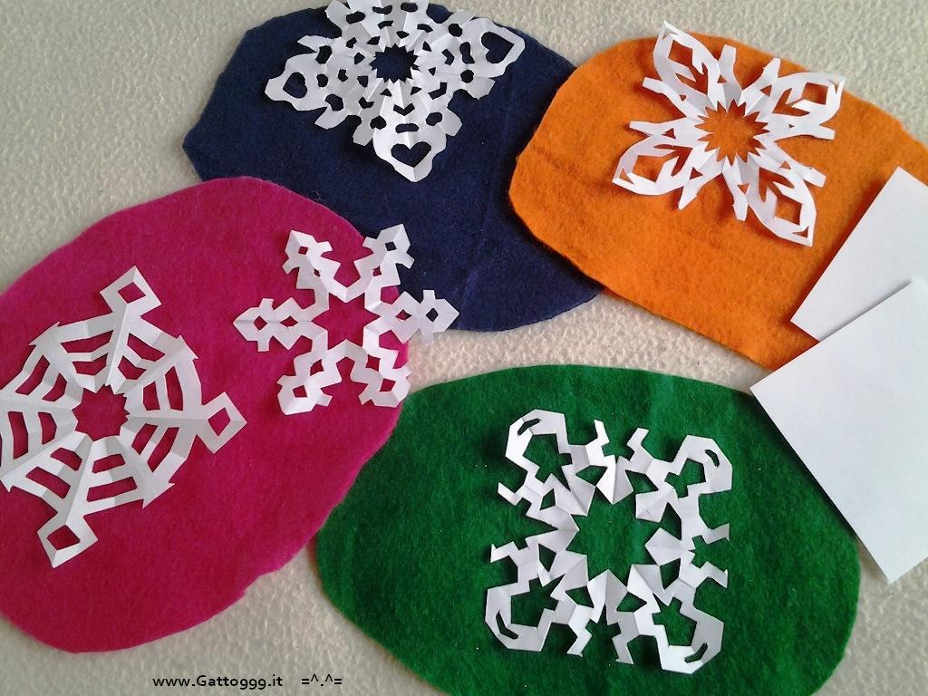 Fiocchi Di Neve Di Carta Facili : Cat origami addobbi natale fatti con la carta fiocco di neve