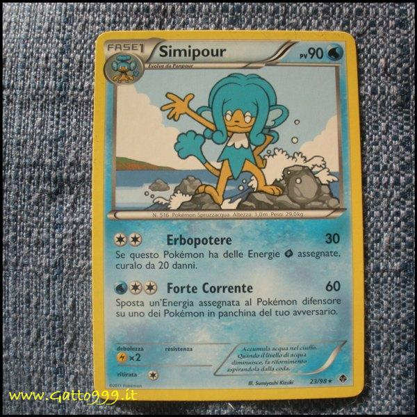 Pokemon Cards - Carte - Simipour