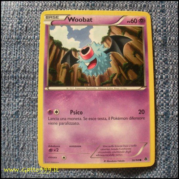 Pokemon Cards - Carte - Woobat