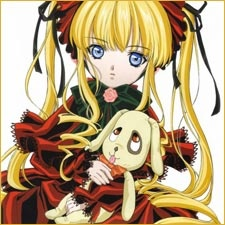 Rozen Maiden - Kunkun in collo a Shinku