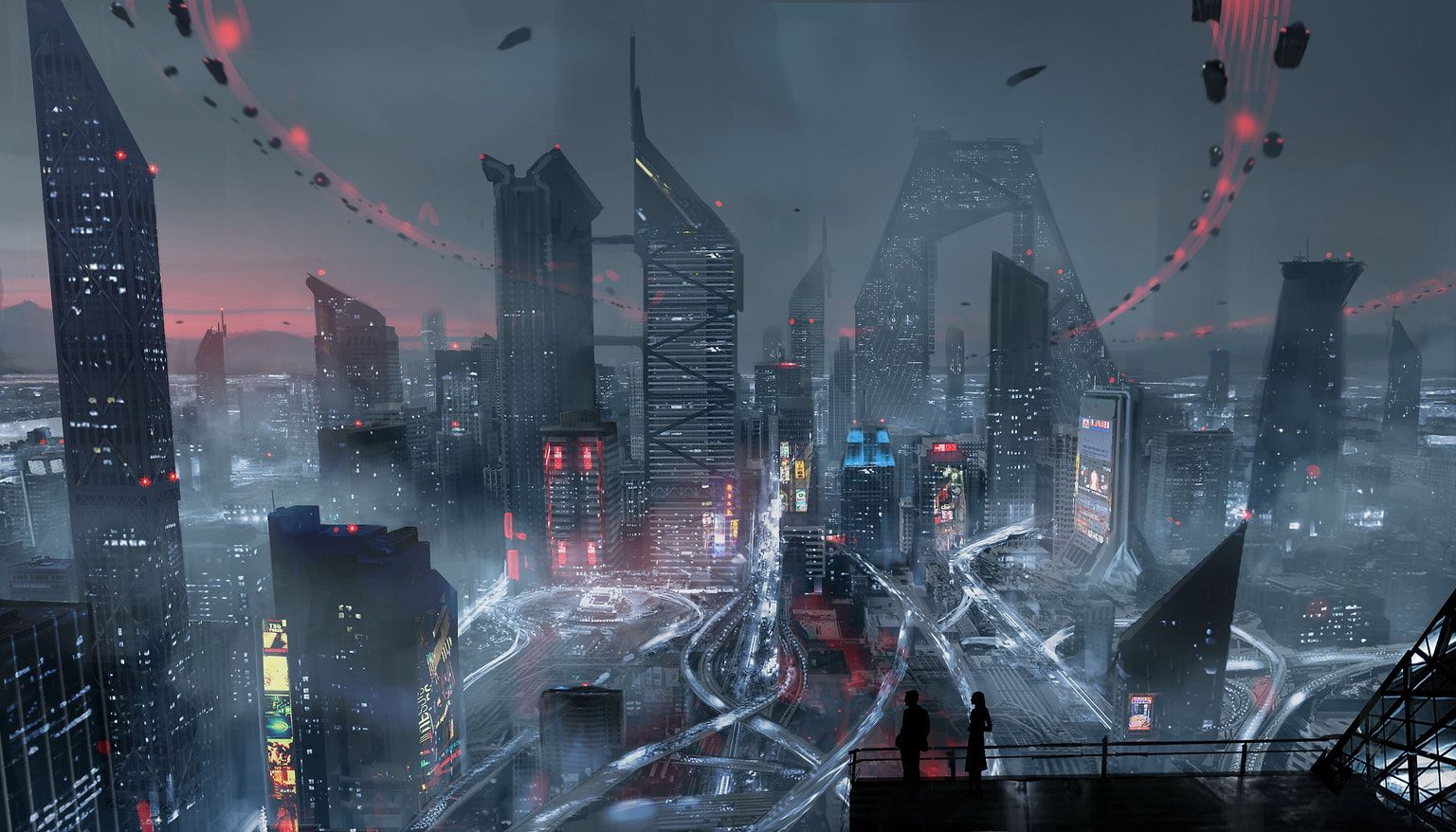 Altered Carbon - future city skyline