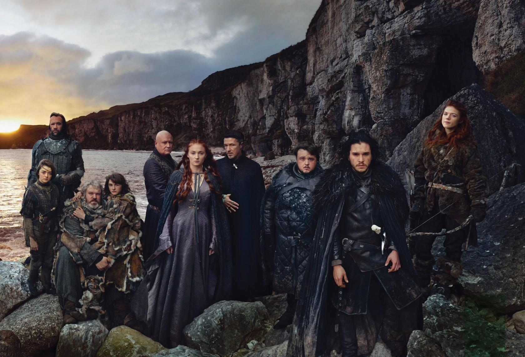 Kit Harington Sophie Turner Maisie Williams Rory Mccann Rose Leslie John Bradley Kristian Nairn Aidan Gillen Conleth Hill Isaac Hempstead Wright