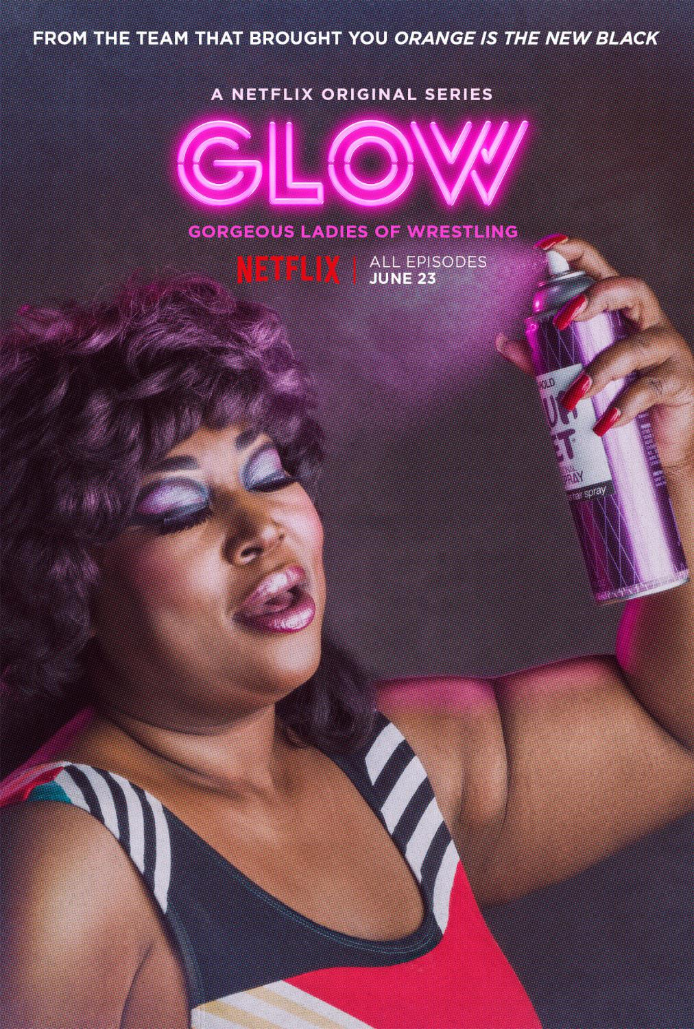Series Netflix - GLOW - Gorgeous Ladies of Wrestling - air spray poster