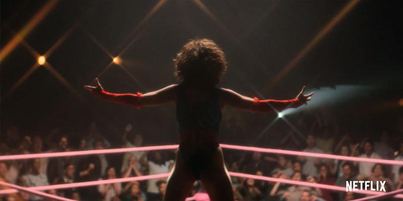 Series Netflix - GLOW - Gorgeous Ladies of Wrestling - Ruth Wilder (Alison Brie) ring