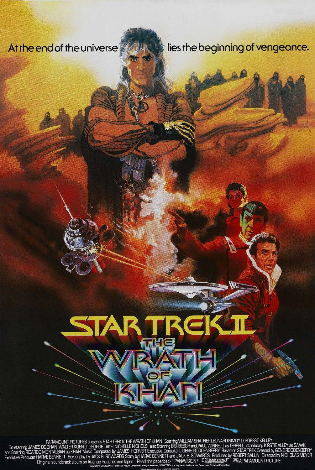 Star Trek 2 - Ira di Khan - Wrath of Khan - poster