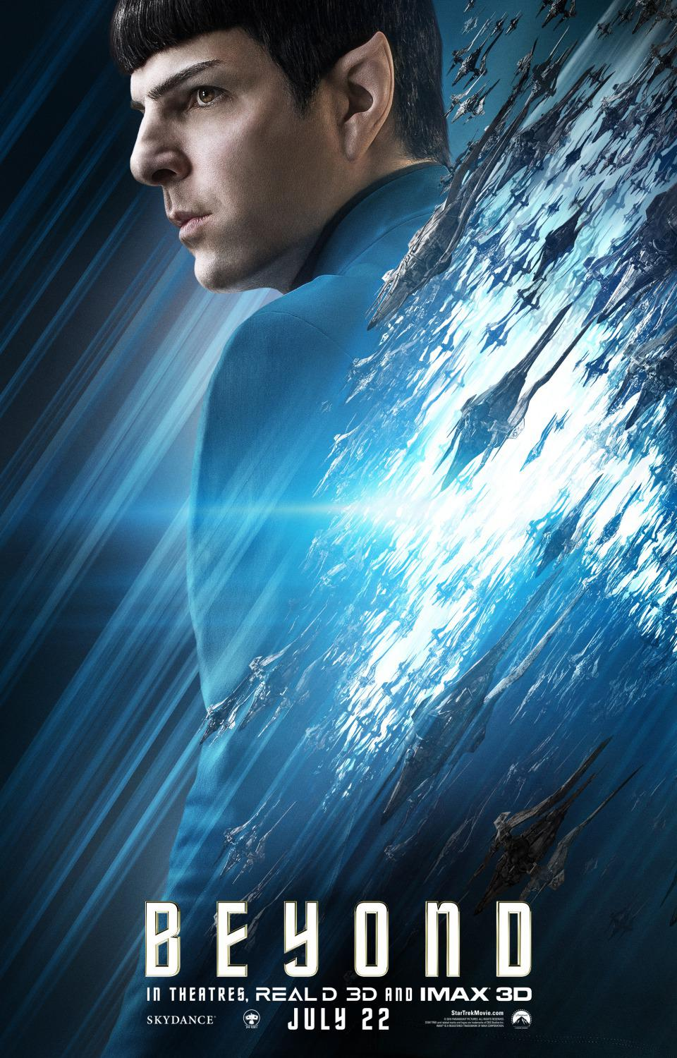 Film - Star Trek 13 - Beyond - poster - Zachary Quinto - Spock