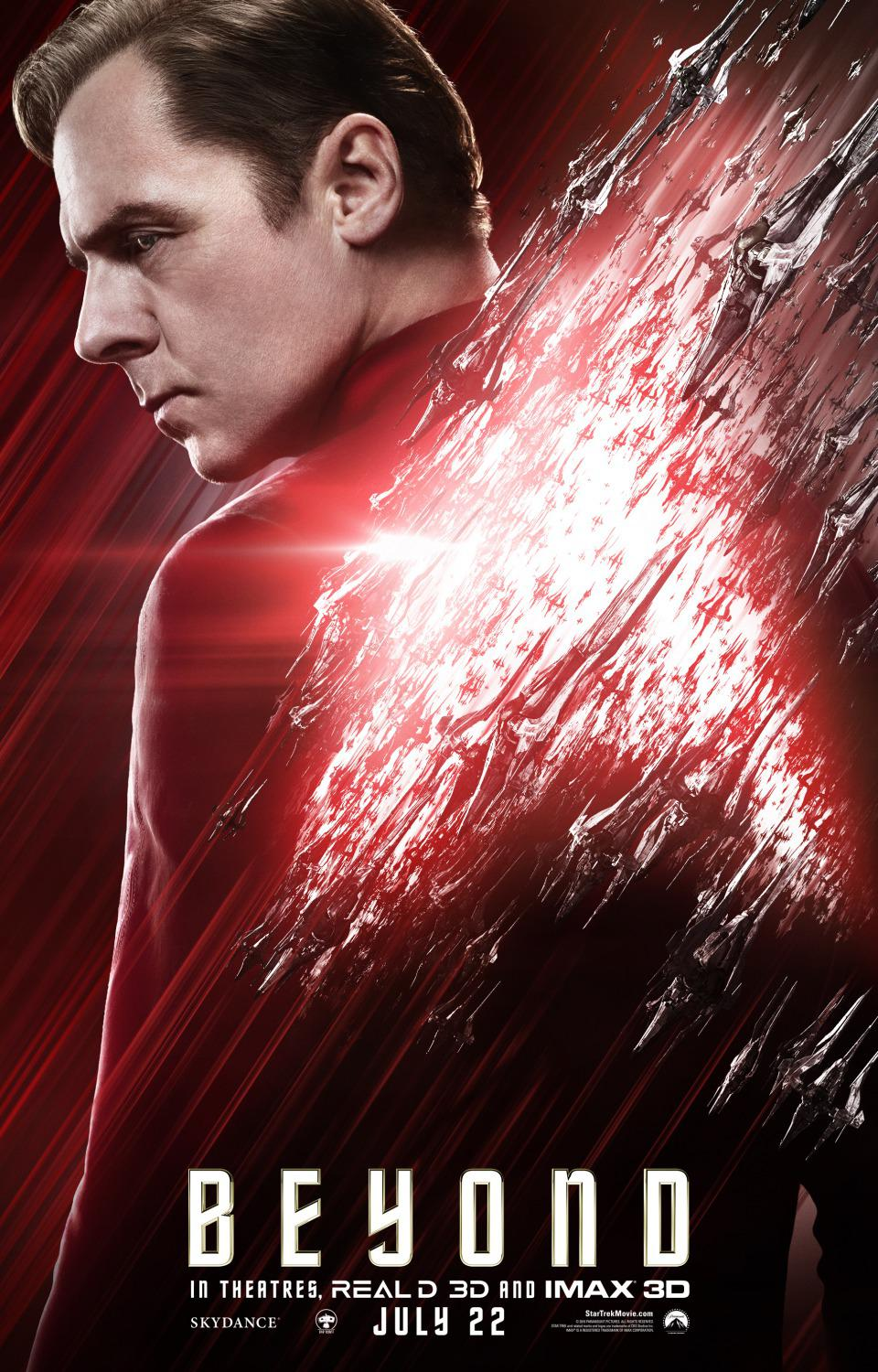 Film - Star Trek 13 - Beyond - poster - Simon Pegg - Montgomery Scott