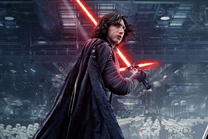 Adam Driver as Kylo Ren in Star Wars 8 - Star Wars the last Jedi - Guerre Stellari gli ultimi Jedi