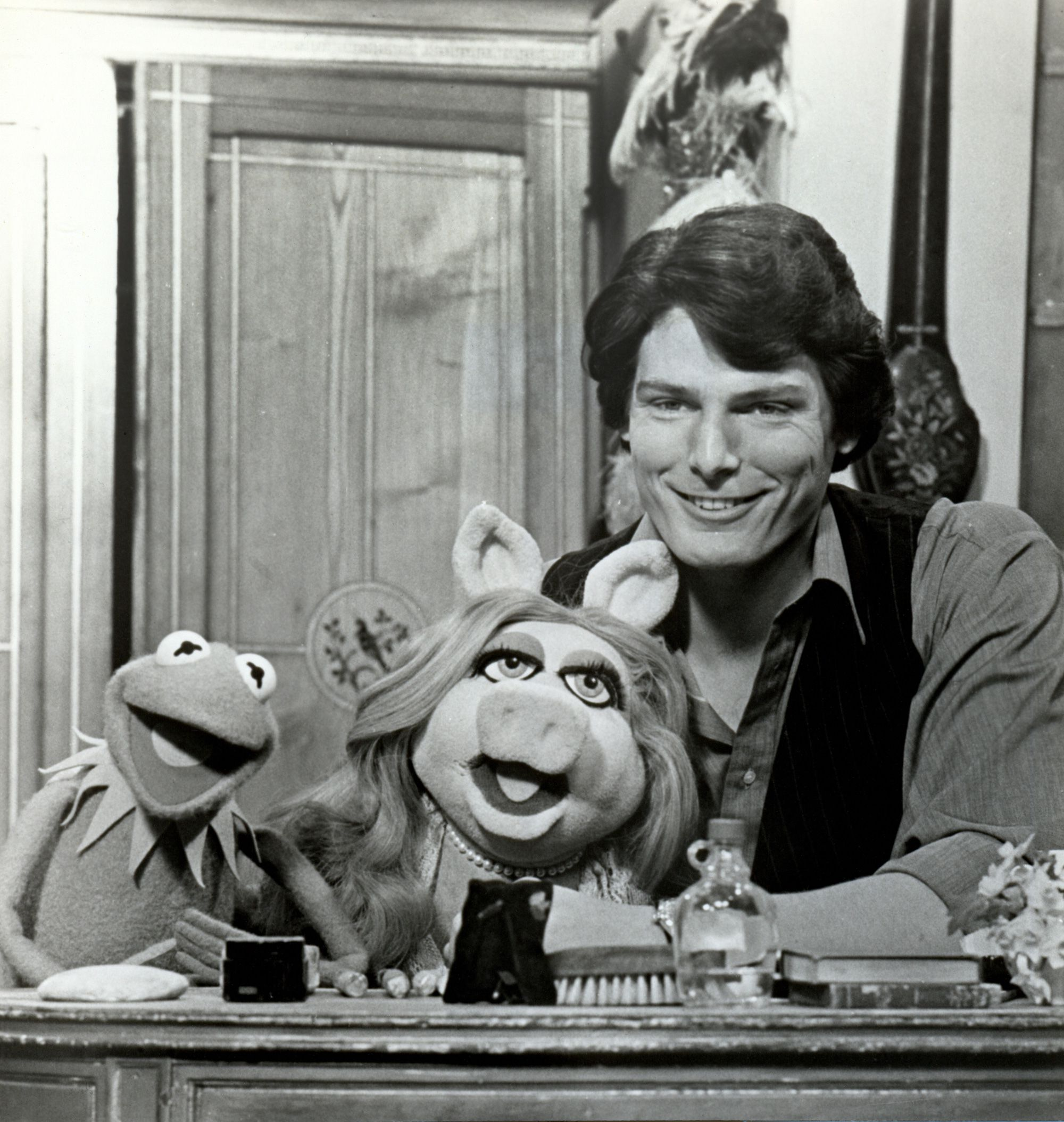 Christopher Reeve with Muppets