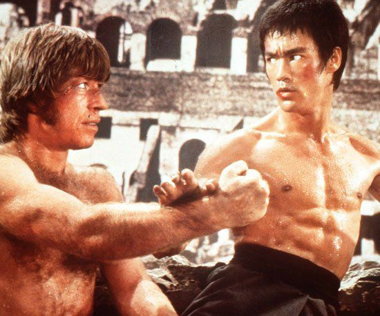 Chuck Norris young and Bruce Lee - Martial Arts Master