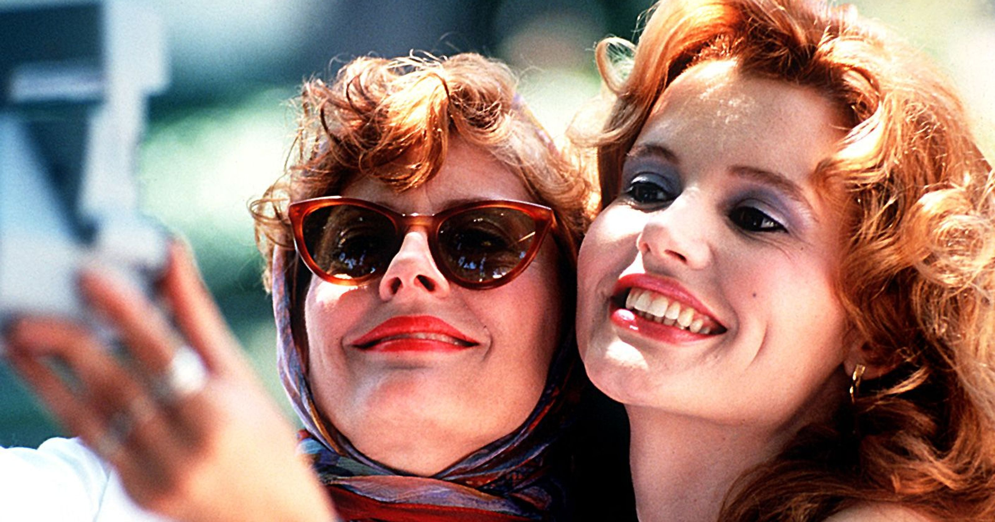 Geena Davis and Susan Sarandon	in Thelma & Louise