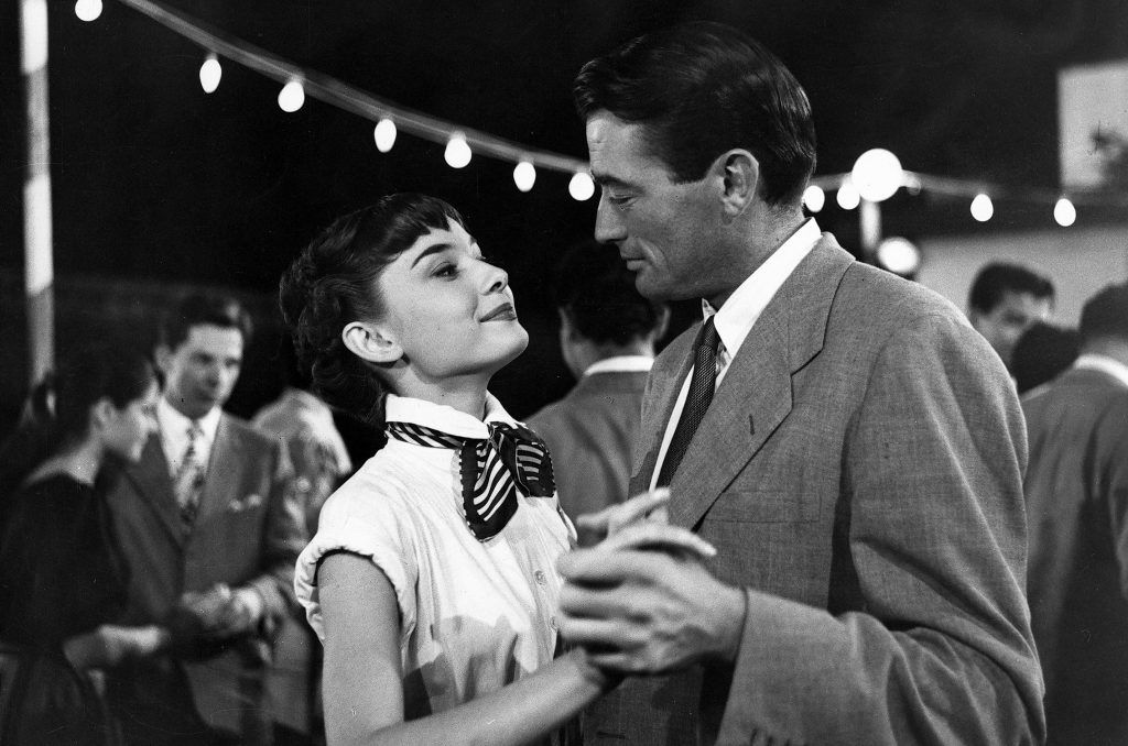 Gregory Peck and Audrey Hepburn Vacanze Romane Rome Roman Holiday Dance