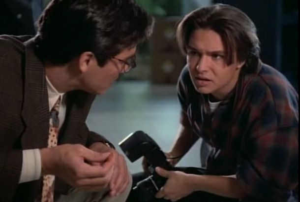 Justin Whalin as photoreporter in the series Smallville with Clark Kent