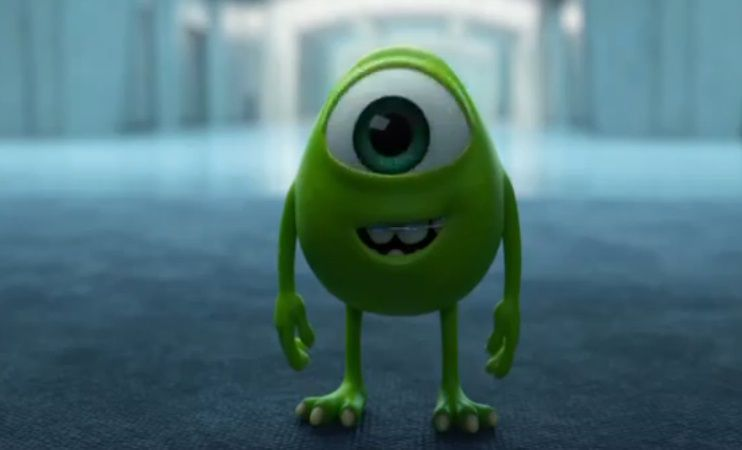 Young little Mike Wazowski