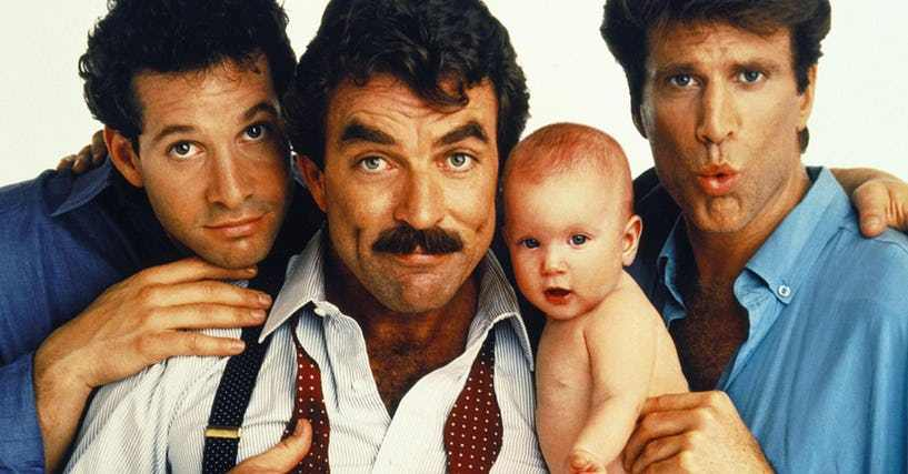Young Ted Danson - Tre uomini e una culla - Three Men and a Baby	- Steve Guttenberg - Tom Selleck